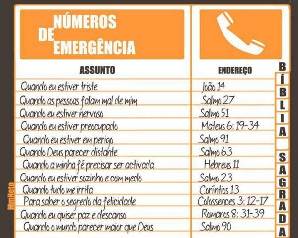 telefones de emergencia