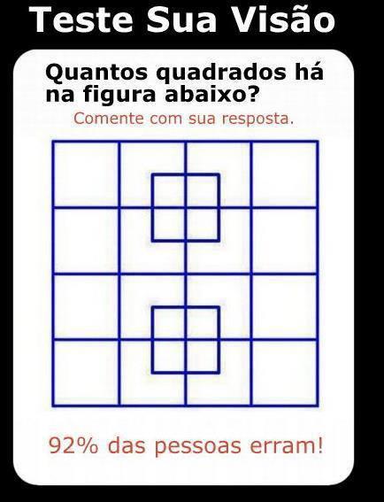 Quantos quadrados consegue ver